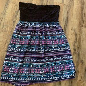 Roxy Girls. size large. strapless dress. EUC